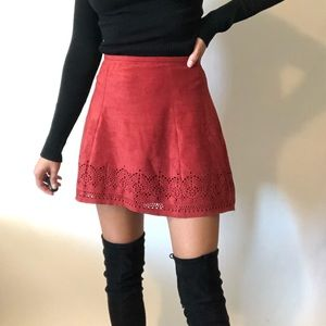 {Express} faux suede mini skirt